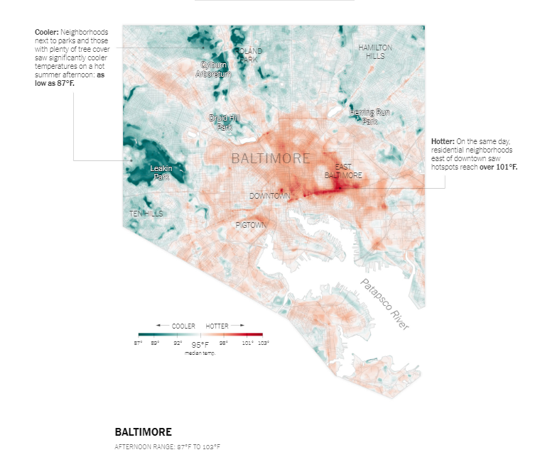 baltimore heat map