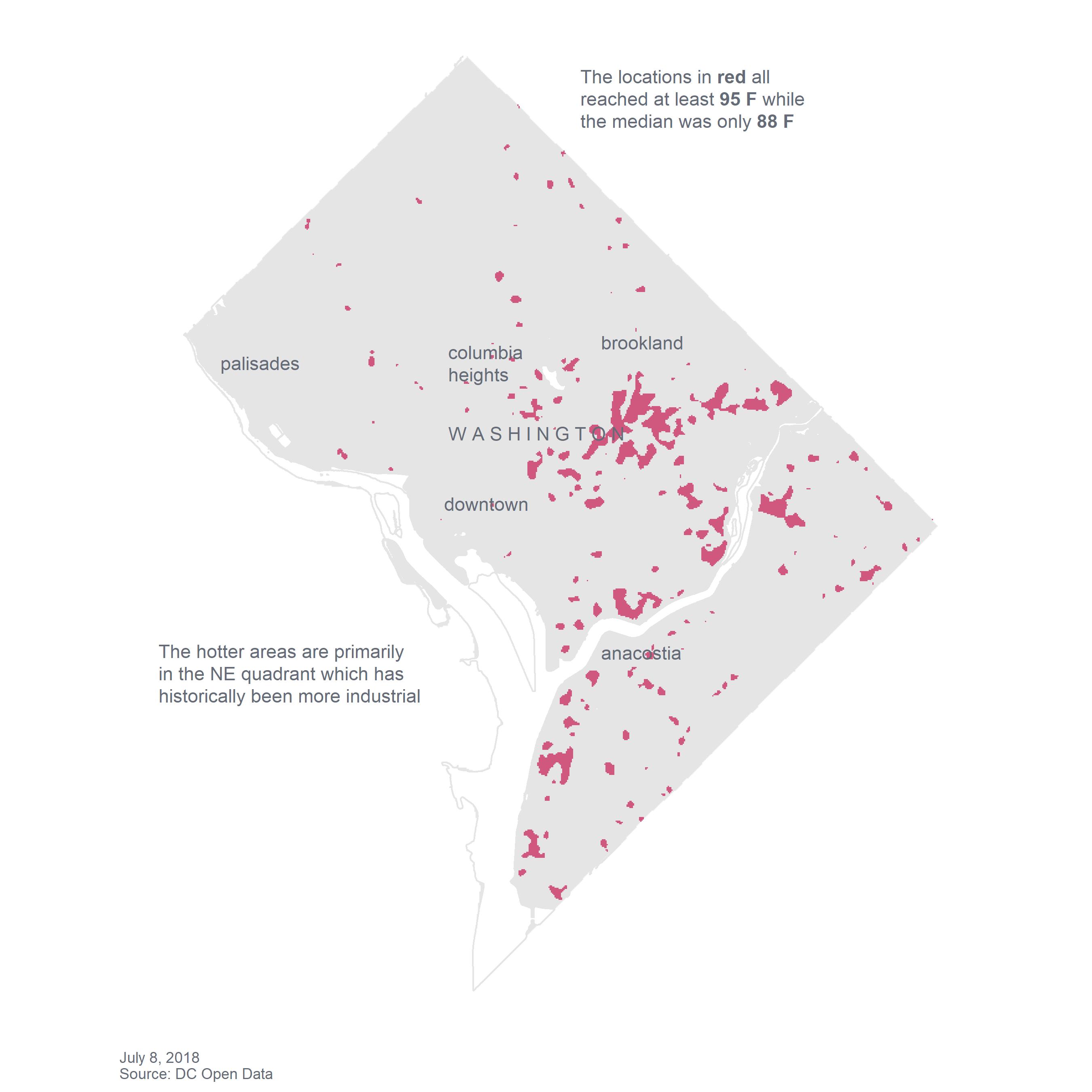 Albuquerque heat map