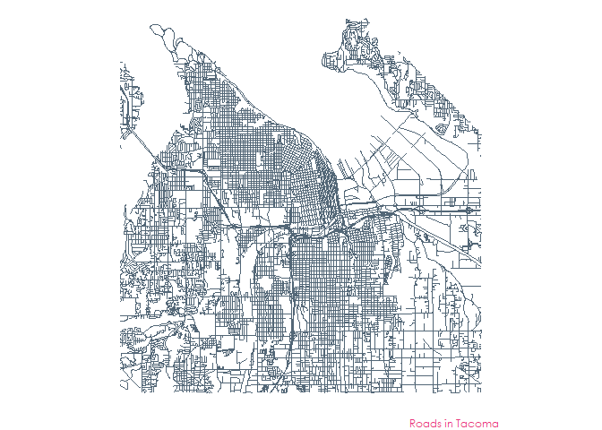 map of the roads in tacoma