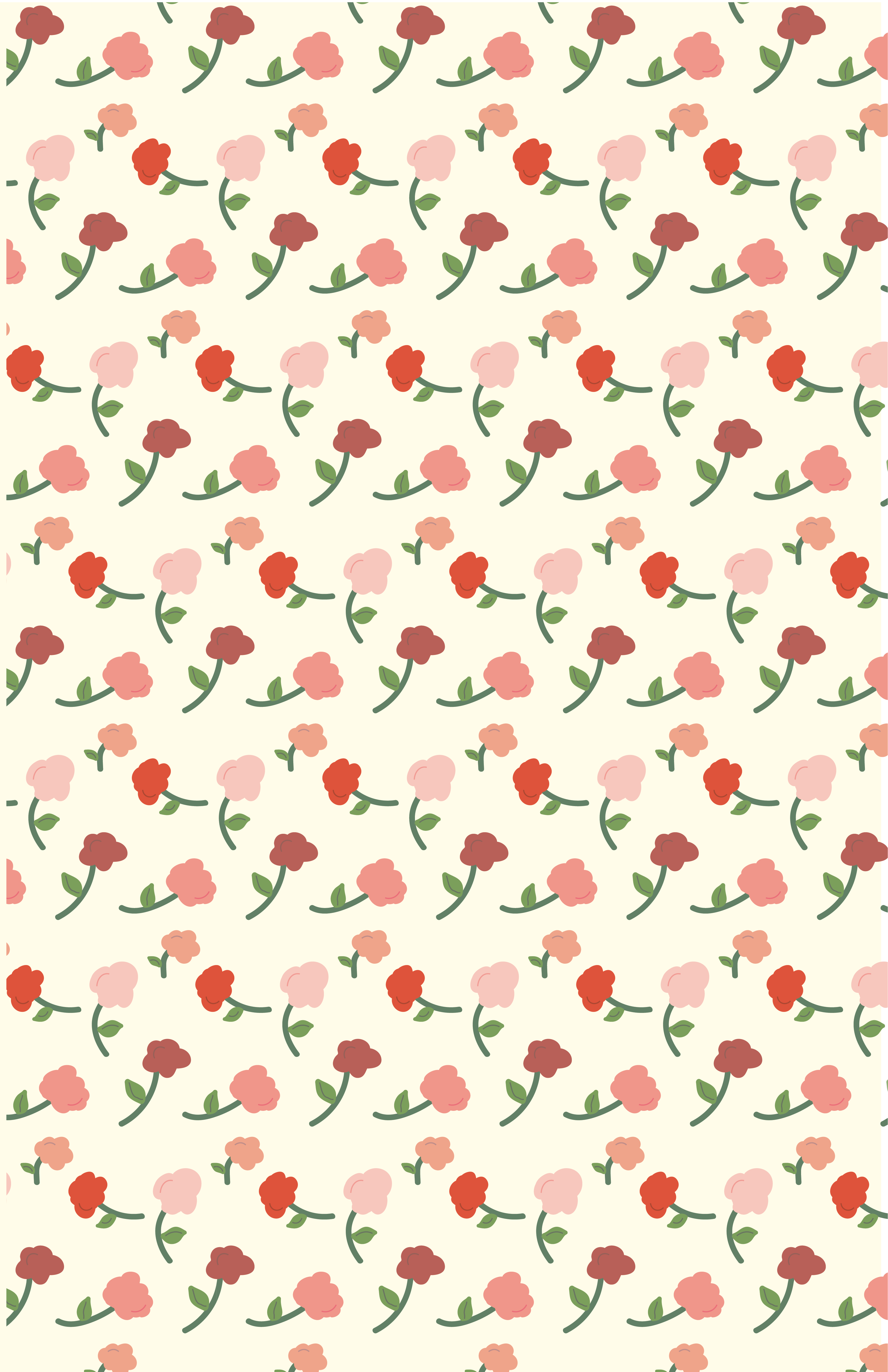 tossed flowers on a cream background