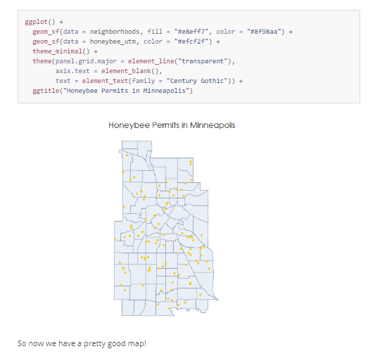 An Introduction to Geographic Data Science in R with Honeybees
